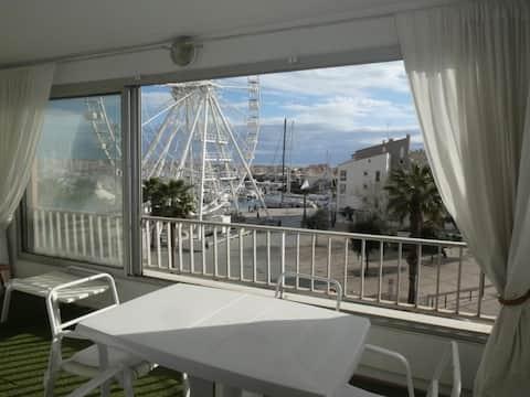 Centre port, belle vue, piscine, parking - Cap d'Agde