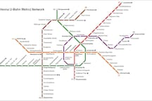 Vienna Subway System - the X marks the location of our apartment