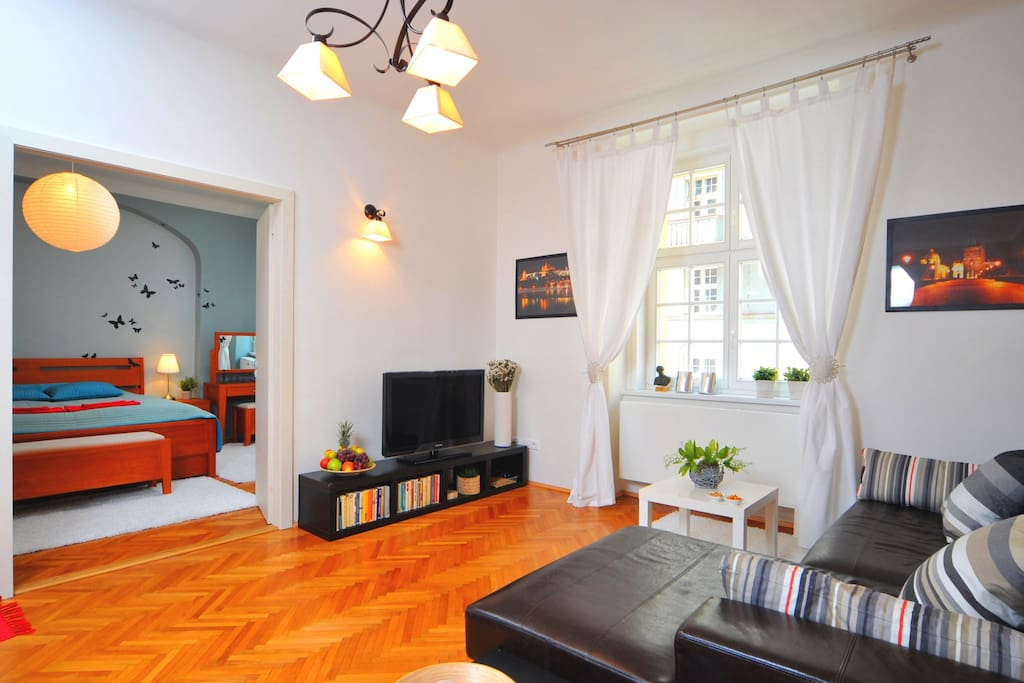 Luxury apartment in prague letna flats for rent in for Designer apartment prague