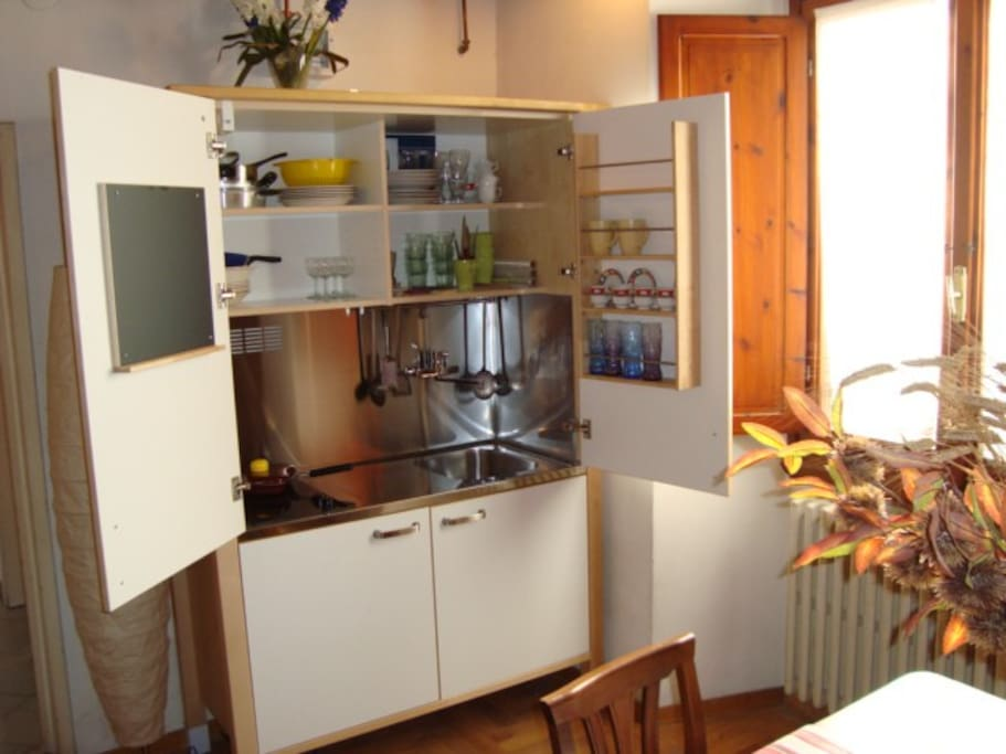 kitchenette cupboard
