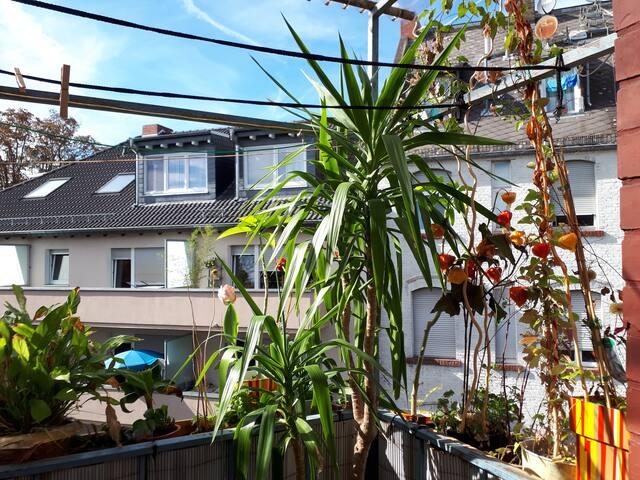 2B&B mit Balkon im kreativen Lebensstil
