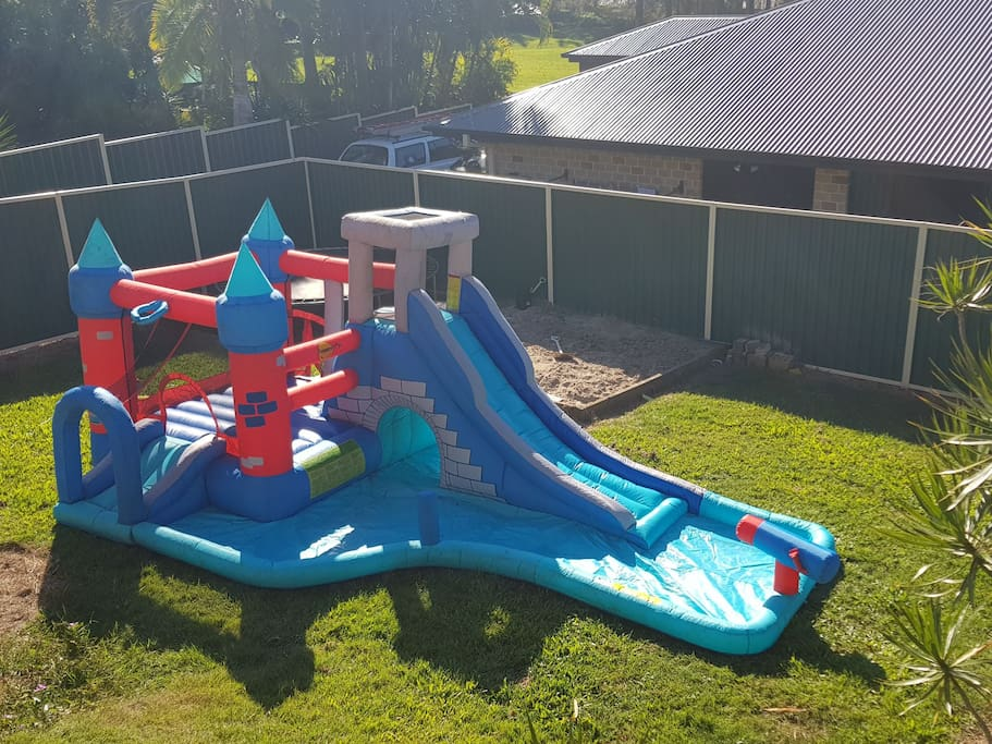 Backyard - Jumping castle (can be set up upon request)