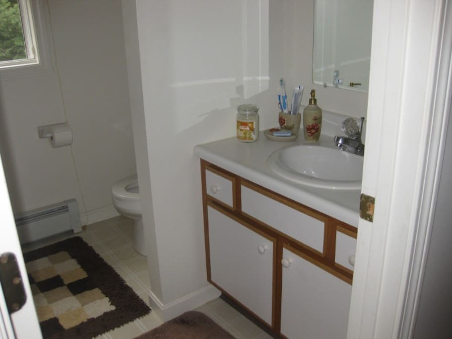bathroom that is used by airbnb guests
