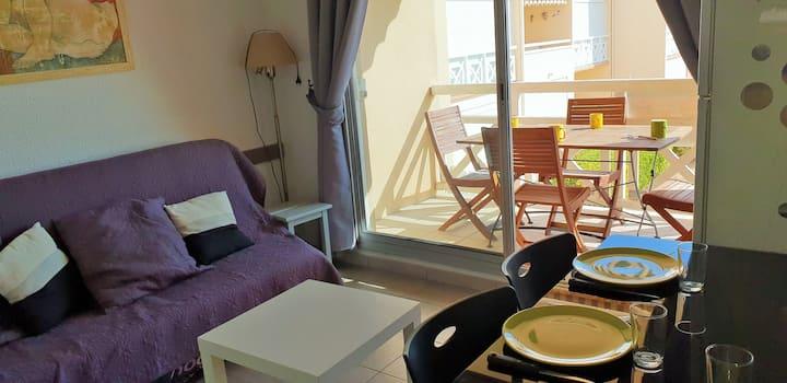 Appartement, terrasse vue mer, Saint Pierre La Mer