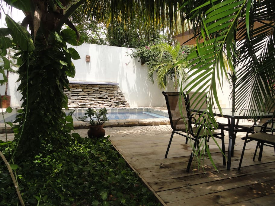 Our main terrace where you can hang out, drink your coffe or read a book...