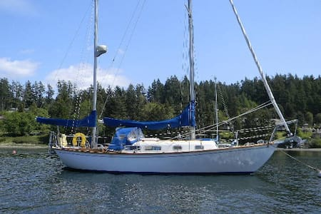 liveaboard sailboat, Orcas Island - Eastsound