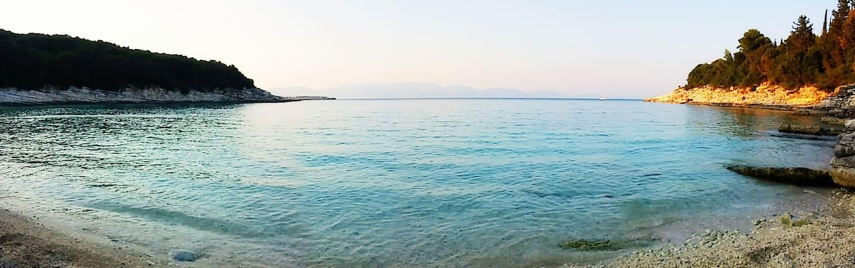 Emblisi beach. 5 mins away by car