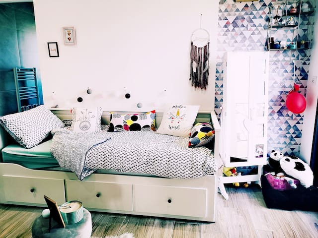 Chambre 3 lit en mode 1 place