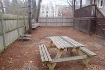 use the spacious back yard, it's up to you! (winter time pic)