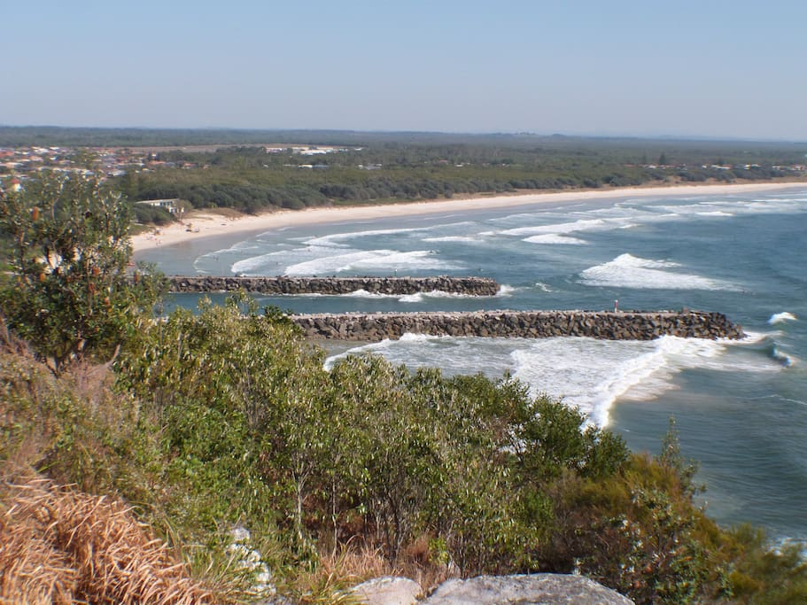 Beach view from lookout
