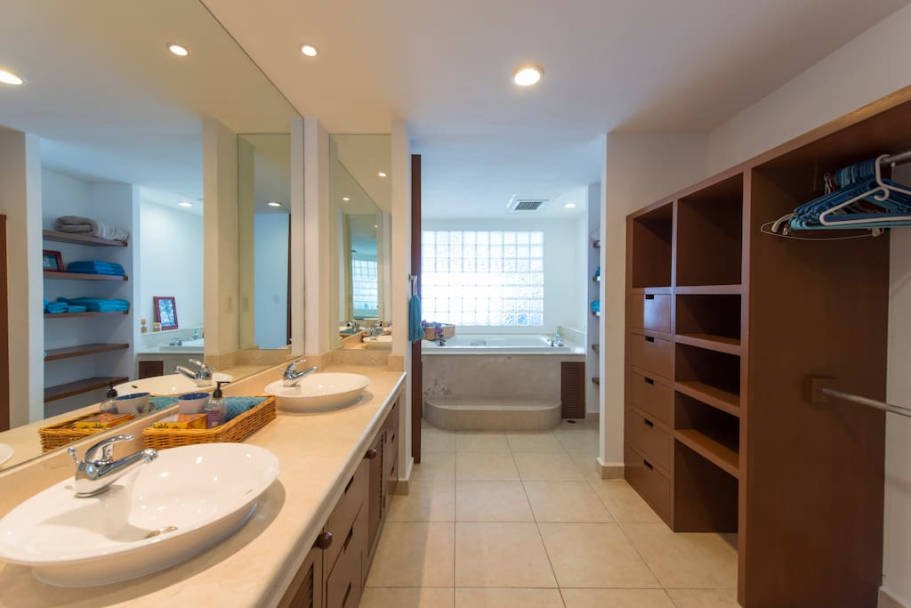 Spacious and airy master bath and dressing area