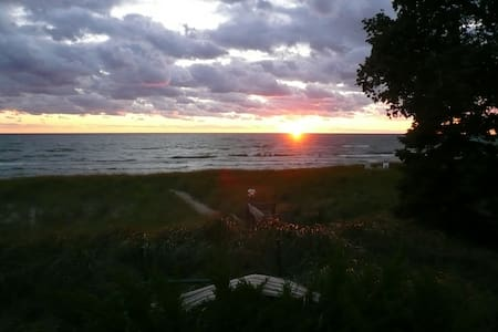 Lake Michigan Privat Beach Cottage - Hytte