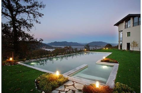 Lake Maggiore view with pool