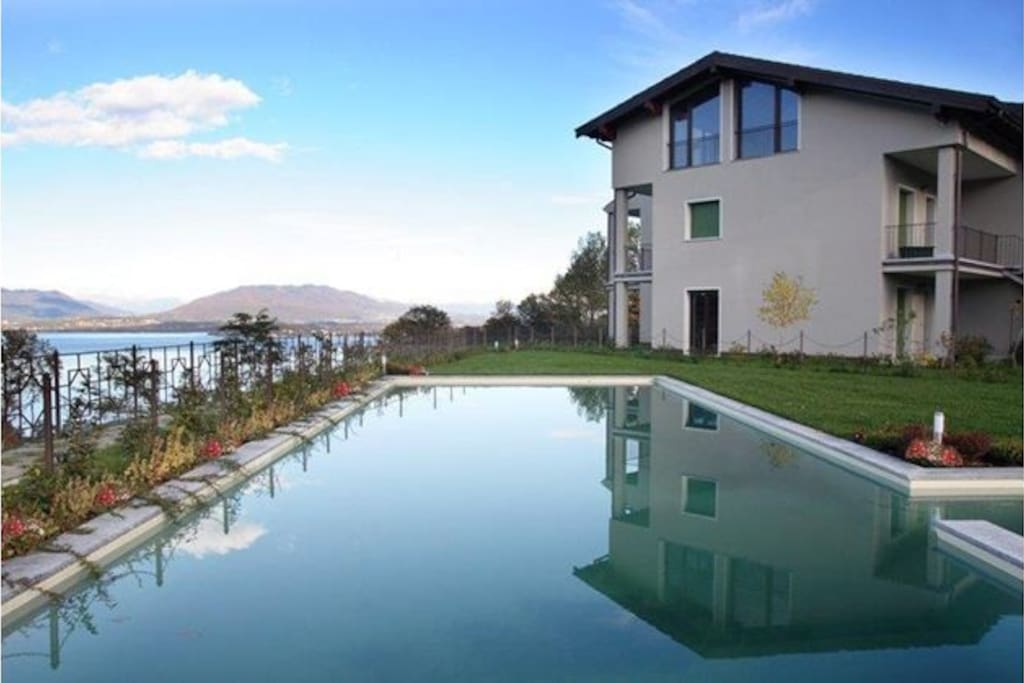 Pool and Lake Maggiore View