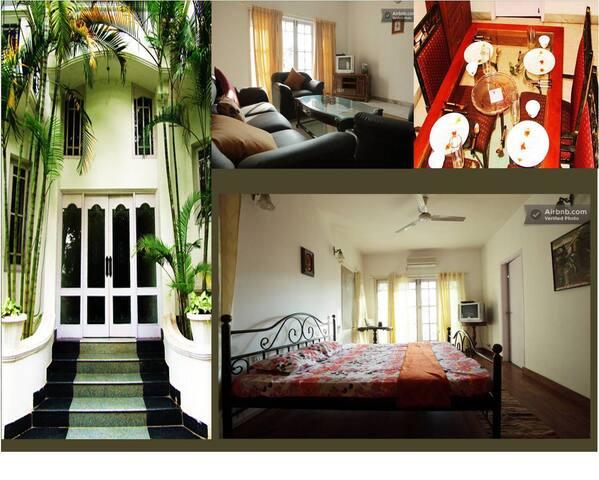Well decorated cozy 3 bedroom apt @ Koramangala - Bangalore - Huoneisto