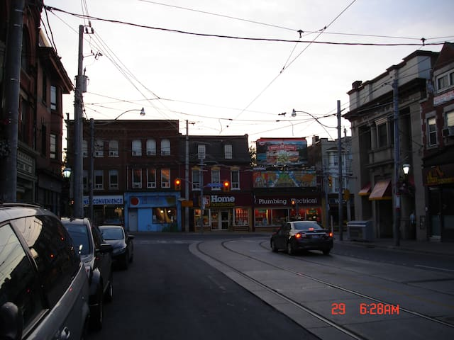 Intersection of Carlton and Parliament Streets, the heart of Cabbagetown