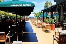 5 min walk-Starbuck coffee