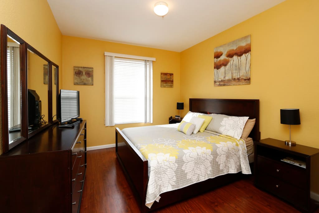 Spacious Master Bedroom with King-Size Bed
