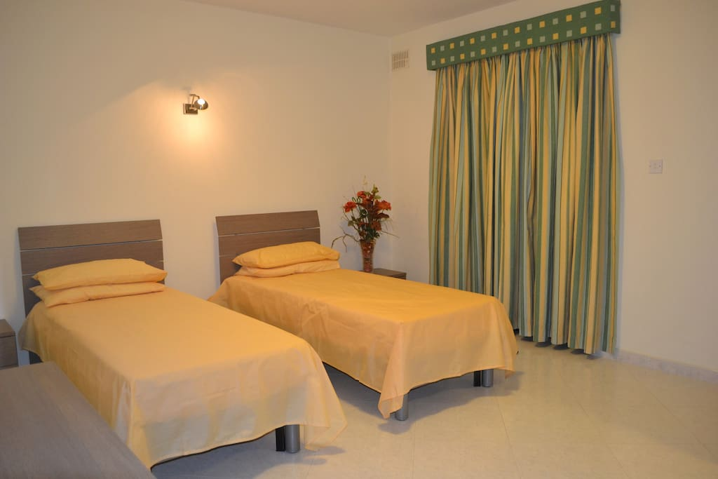 Second Bedroom may be configured as single beds or twin beds