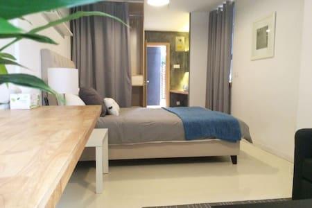 步行到南塘老街5分钟,犹如城市里的民宿,带私家院子,房号B101 - Ningbo Shi - Appartement
