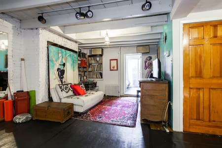 Bright Garden Room with Kitchenette - Brooklyn - Pis