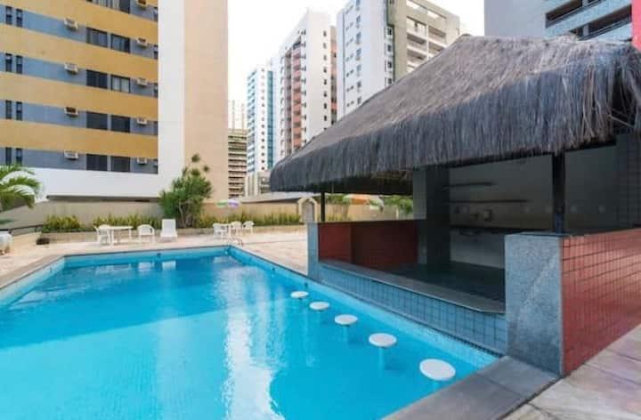 Flat 2 quartos em Boa Viagem Recife com Vista Mar