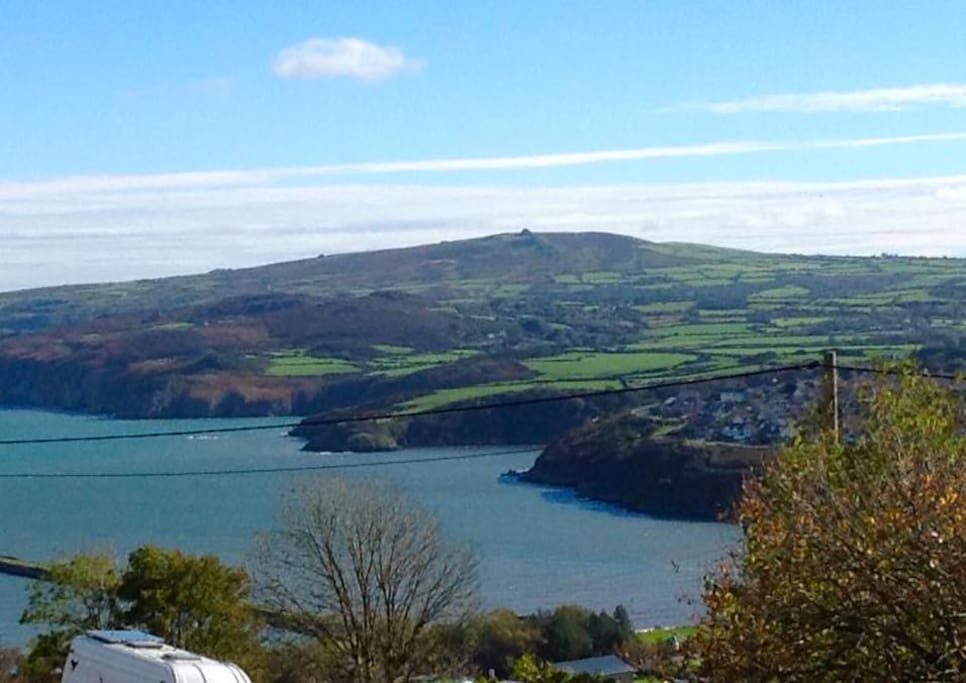 View from corner over to Fishguard and Dinas Cross