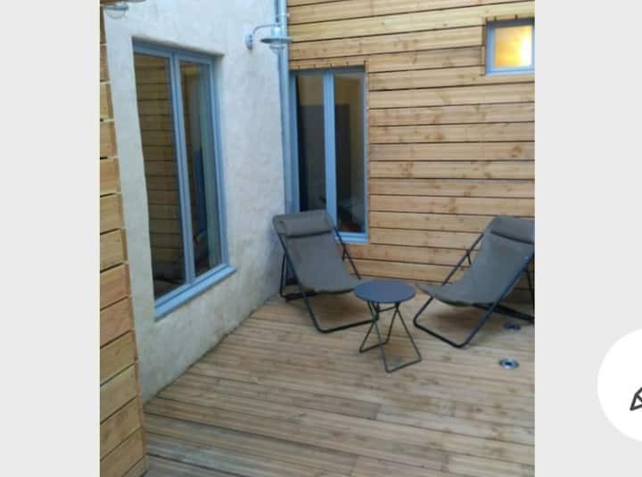 Appartement / terrasse sans vis à vis Fécamp plage