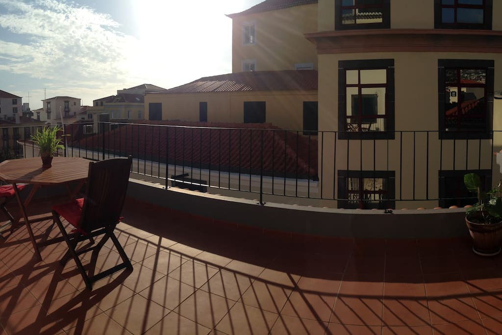 Panoramic of the terrace