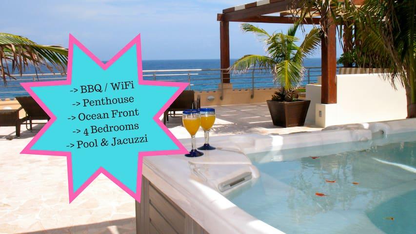 Riviera Maya Haciendas - Penthouse Ocean Front - Puerto Aventuras - Appartement