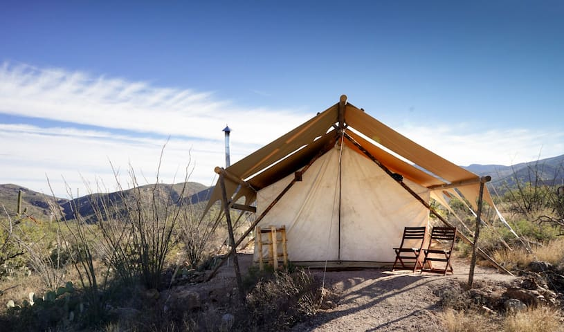 Under Canvas Tucson Safari Tent with 3 twin beds