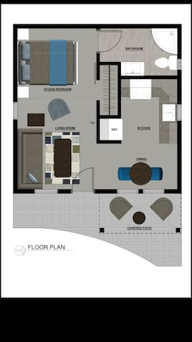 Floor Plan layout of guest suite