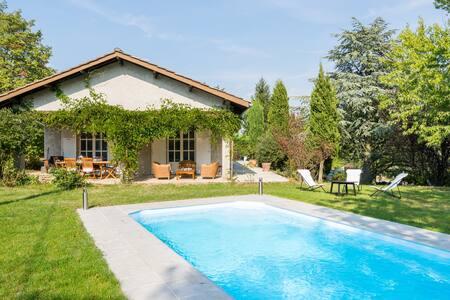 Studio au calme avec terrasse, jardin et piscine - Saint-Cyr-sur-le-Rhône - 独立屋