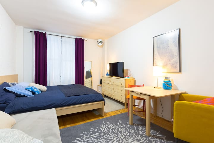MANHATTAN studio 10 minutes away from Central Park