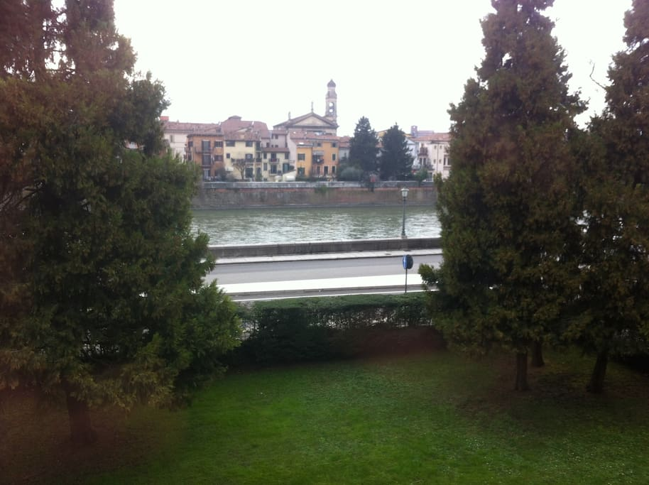 River Adige view from our home.