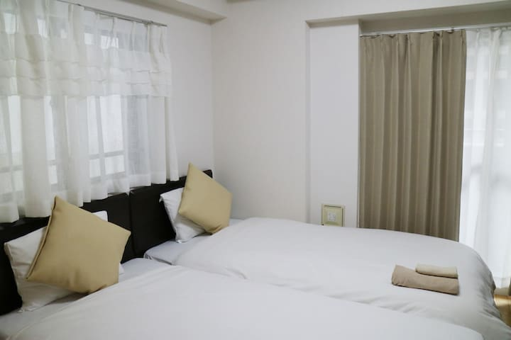 【Long stay possible!】☆Standard Twin Bed Room