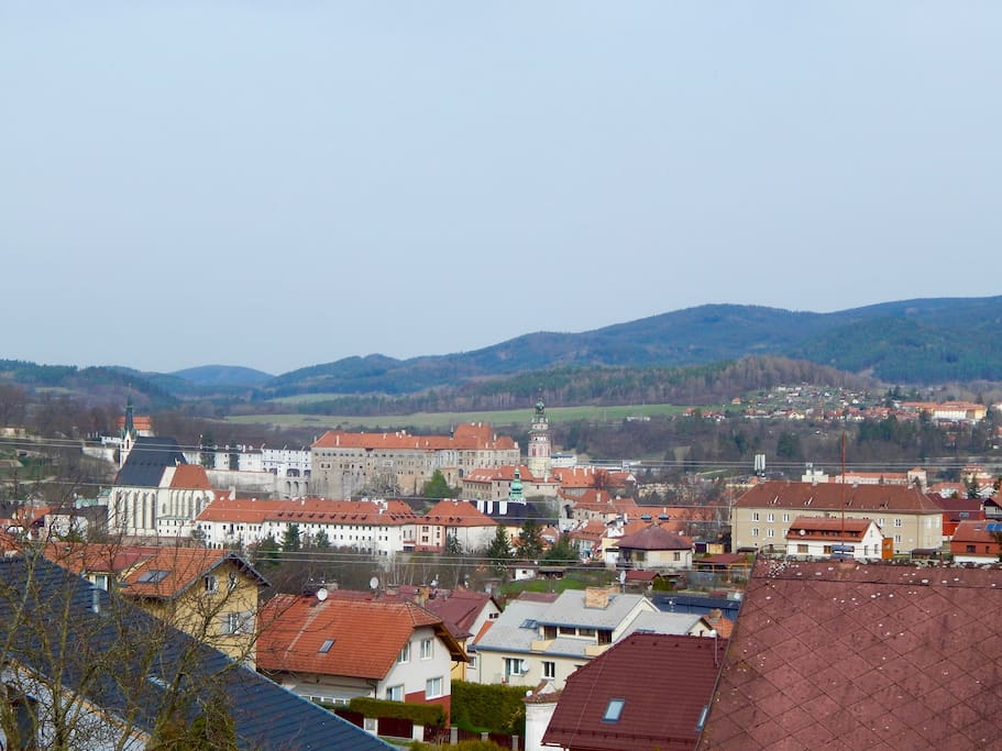 The view from the bathroom window - castle of Cesky Krumlov