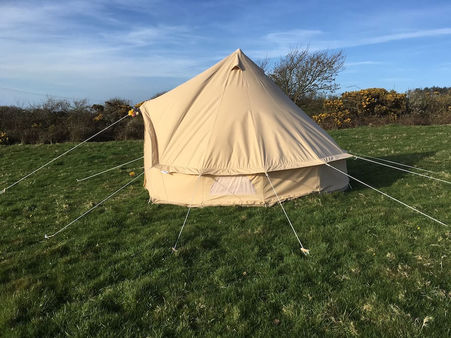 Sideways view of Bell tent