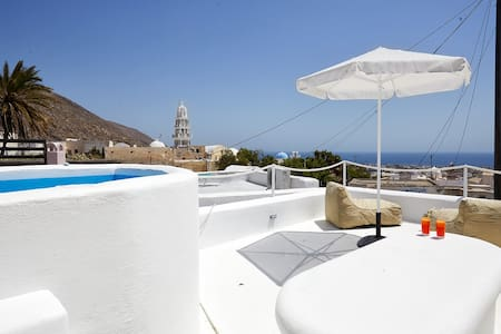 Santorini-treasures Rockside Villa traditional