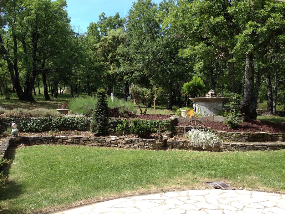 grande terrasse vue sur parc