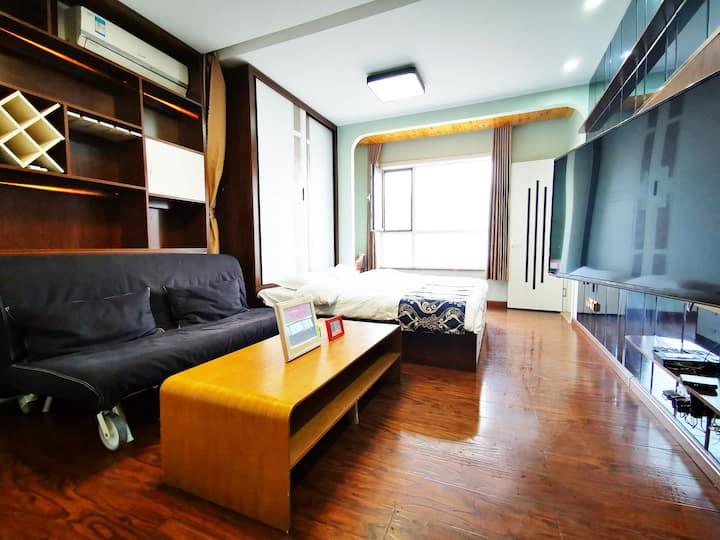 【寓见•你】市中心/大润发/银座/理工大/义乌/公园附近一室一厅40㎡整套公寓