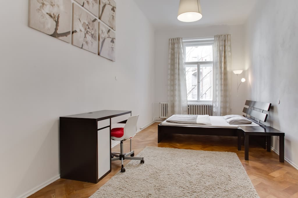 this is your room with bed and PC table