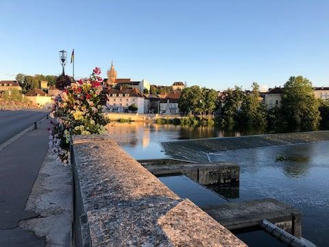 Charmant T3 en bords de Saône