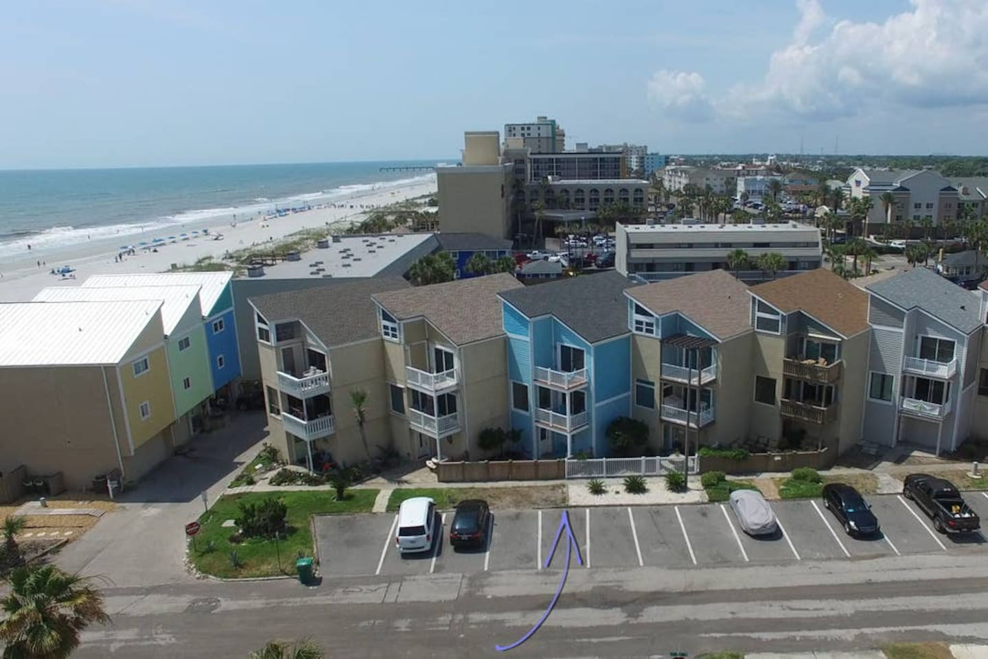 Front of Townhome and Proximity to Jax Beach