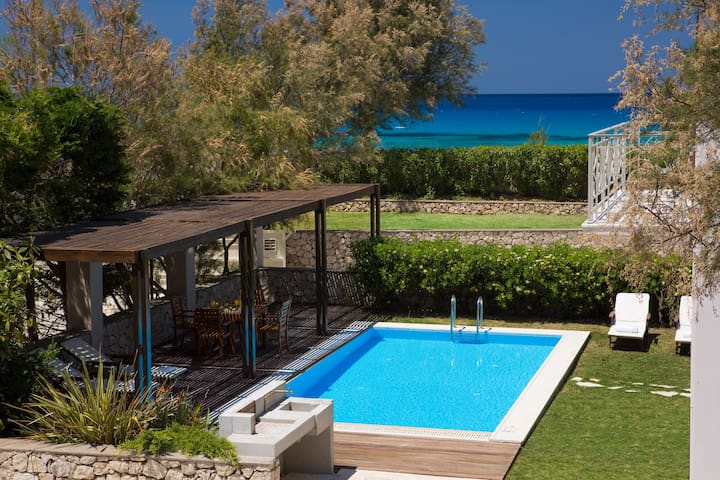 Aeriko-Anemos Beachfront Villa with Stunning View and Private Pool.