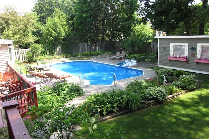 Private Gsthouse Pool&HTub-Syracuse - Fayetteville - Hus