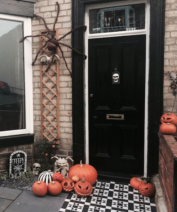 Our house at Halloween