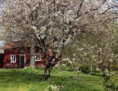 Lantligt charmigt gästhus utanför Borås