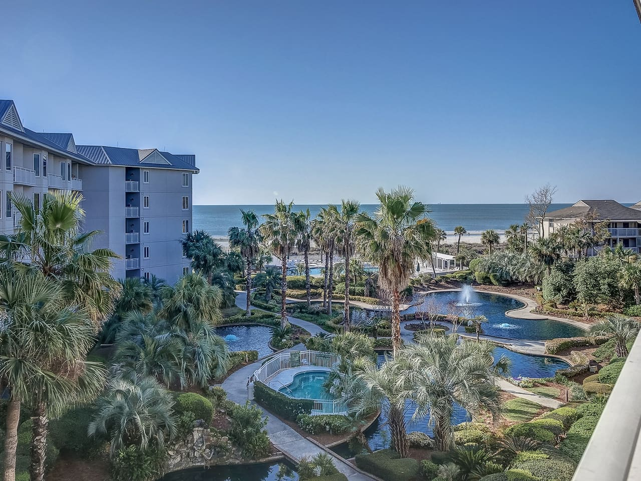 Beautiful Beach, Ocean and Pool Views from 1401 Sea Crest
