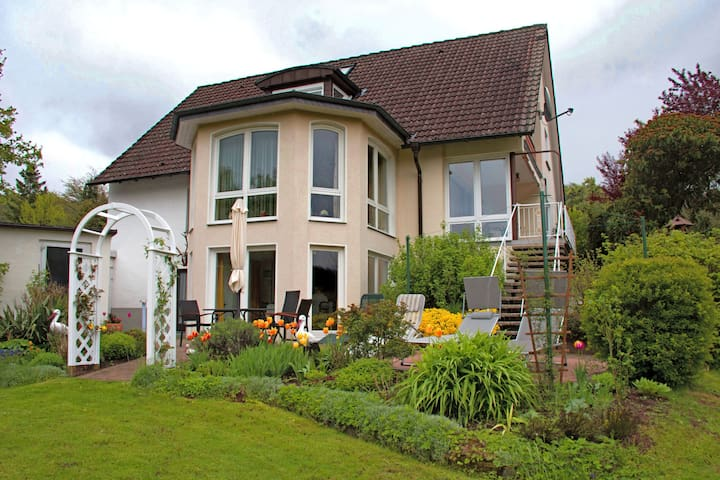 Apartment in Teutoburg Forest in an attractive location with garden and sunbathing lawn